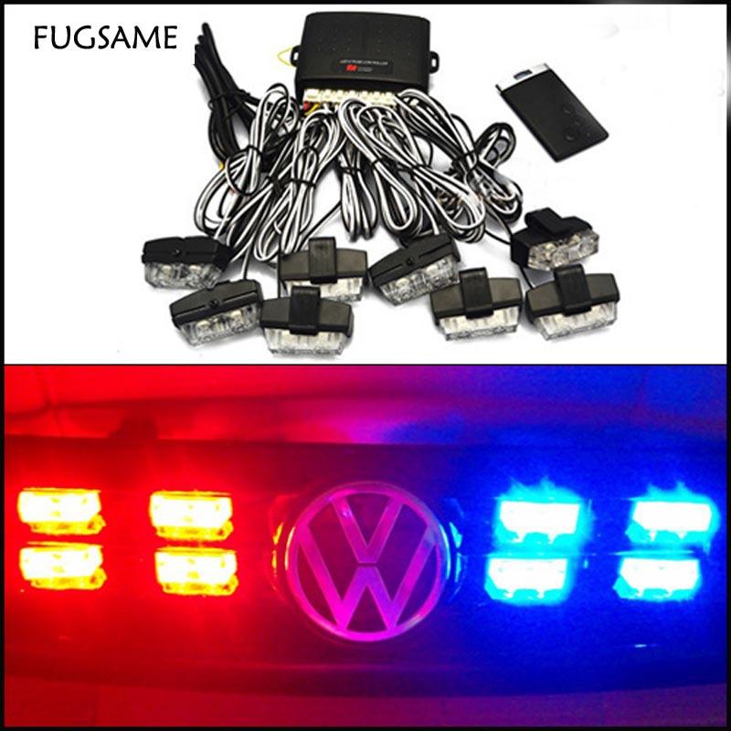 все цены на FUGSAME 48W Wireless Super power Strobe flash led warning light Car Working light DRL Strobe Police Fireman Caution pilot Lamp онлайн
