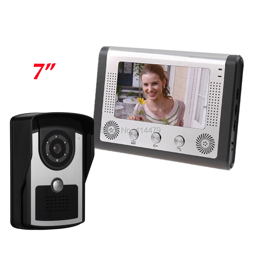 7 inch LCD Wired Home Color Video Door Phone Intercom System Night Vison RainProof Camera7 inch LCD Wired Home Color Video Door Phone Intercom System Night Vison RainProof Camera