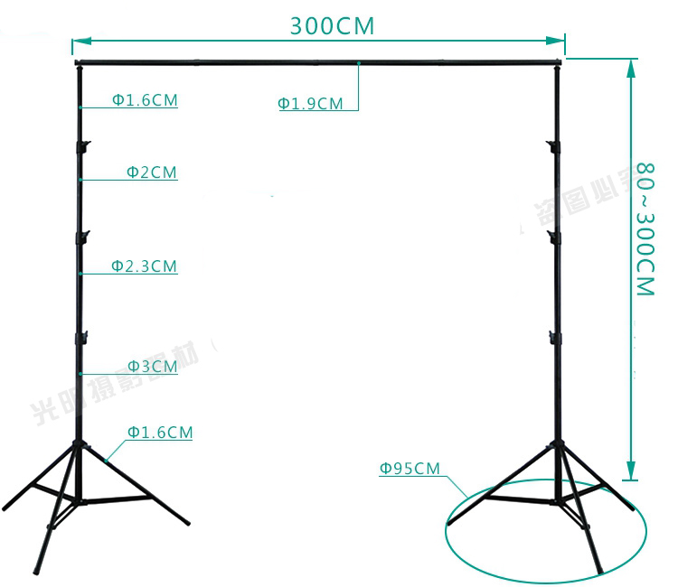 Image 2 - DHL 10Ft X 10Ft FREE BACKGROUND HOLDER 3M X 3M Adjustable Muslin Background Backdrop Support System Stand Kit Carrying Bag-in Photo Studio Accessories from Consumer Electronics