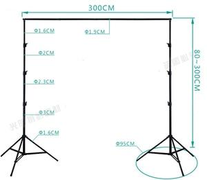 Image 2 - DHL 10Ft X 10Ft FREE BACKGROUND HOLDER 3M X 3M Adjustable Muslin Background Backdrop Support System Stand Kit Carrying Bag