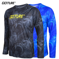 Goture Long Sleeve Fishing Clothing Quick Drying Sun UV Protection T Shirt Vests Sports Clothes Double Colors Available