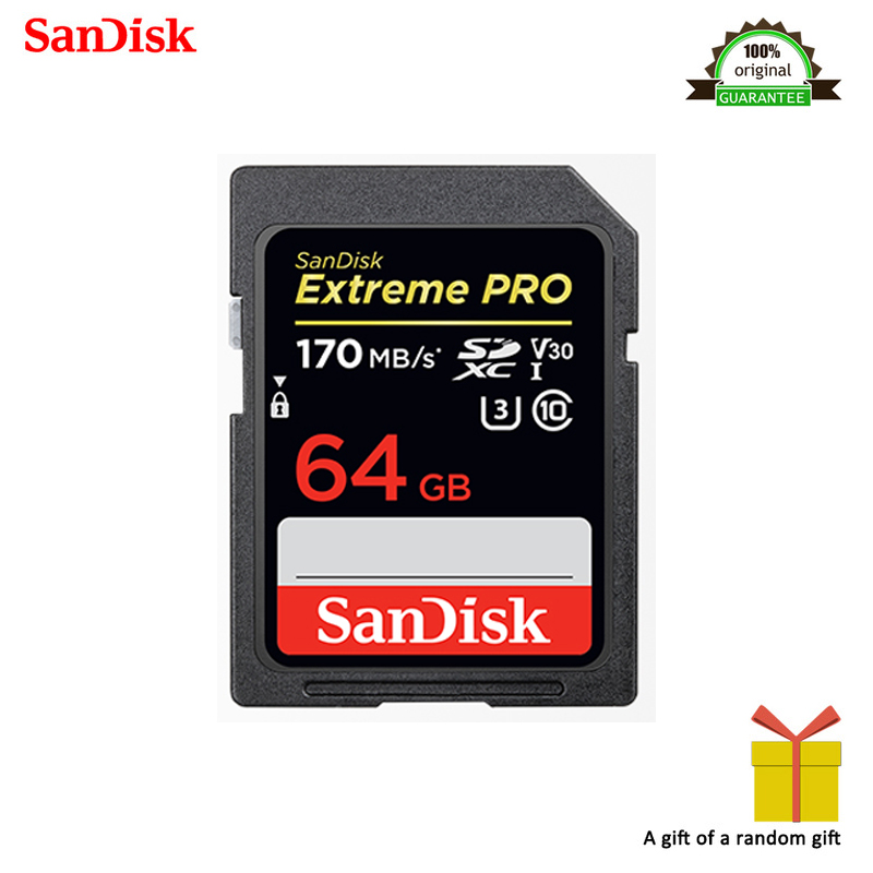 Image 5 - 100% Original SanDisk Extreme PRO SDHC SDXC UHS I 32GB 64GB 128GB High Speed Memory Card C10 U3 V30 SD Camera Class 10 95MB/s-in Memory Cards from Computer & Office