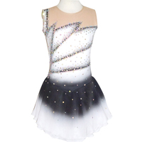 Customized Costume Ice Skating Figure Skating Dress Gymnastics Competition Adult Child Girl Skirt Performance Rhinestone