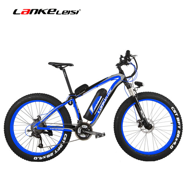Super-Power  1000 Watts  26'' Electric Bicycle Fat Bike, 48V 18AH Big Li-ion Battery Snow Bike