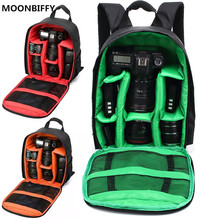 Cheap price MOONBIFFY Red Green Orange Waterproof Multifunctional Digital DSLR Camera Video Bag Small SLR Camera Bag For Nikon Canon