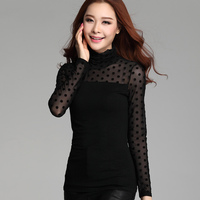 Women Blouses Long Sleeve 2015 Women Lace Blouse Blusas Feminina Plus Size XXXL Women Shirts Fashion
