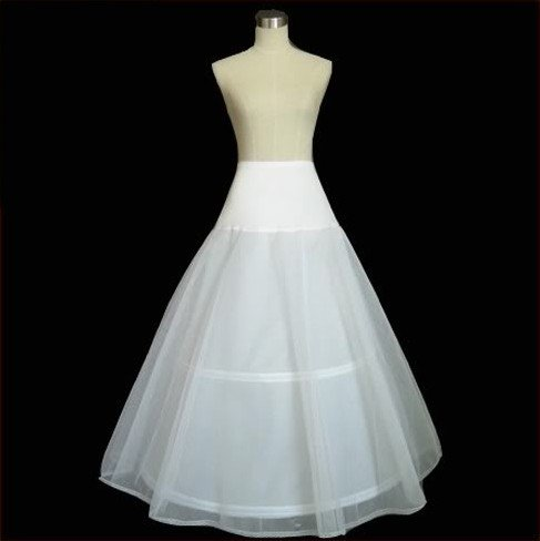Free Shipping Lycra-2-hoop Crinoline Wedding Dress Petticoat Wholesale/retail Petticoats Wedding Accessories