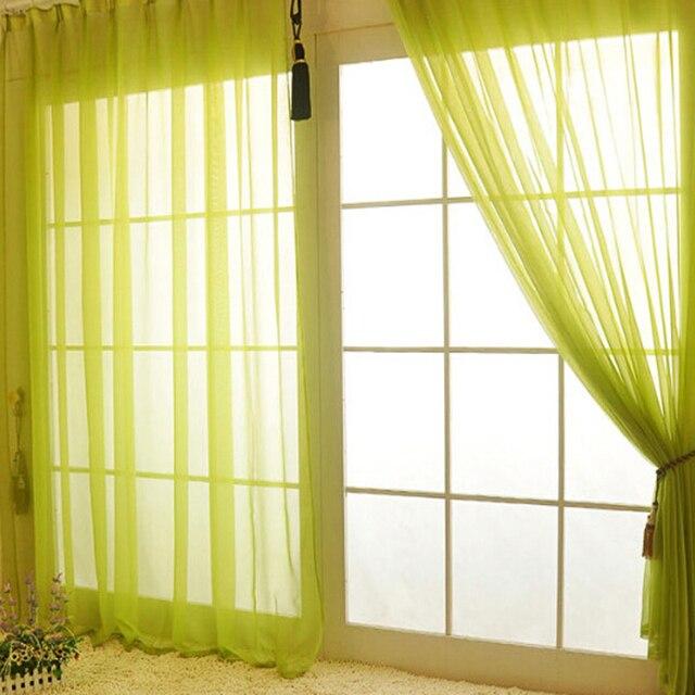 Moderno Puro Solido Tende di Tulle per Ombreggiatura Cucina Hotel Balcone Soggiorno Bianco Rosso Verde Giallo Arancione vendita Calda di WP184 * 20