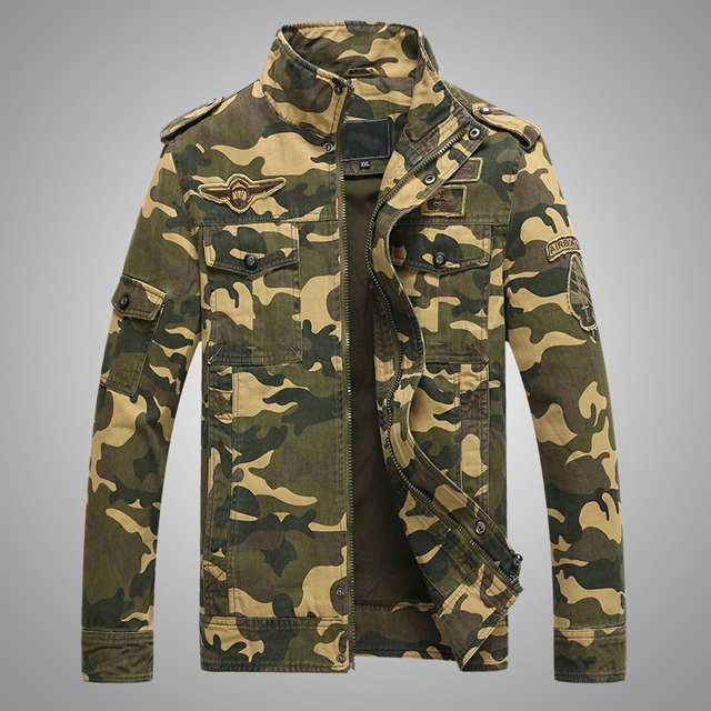 Vandam Windproof Camo Bomber Jacket