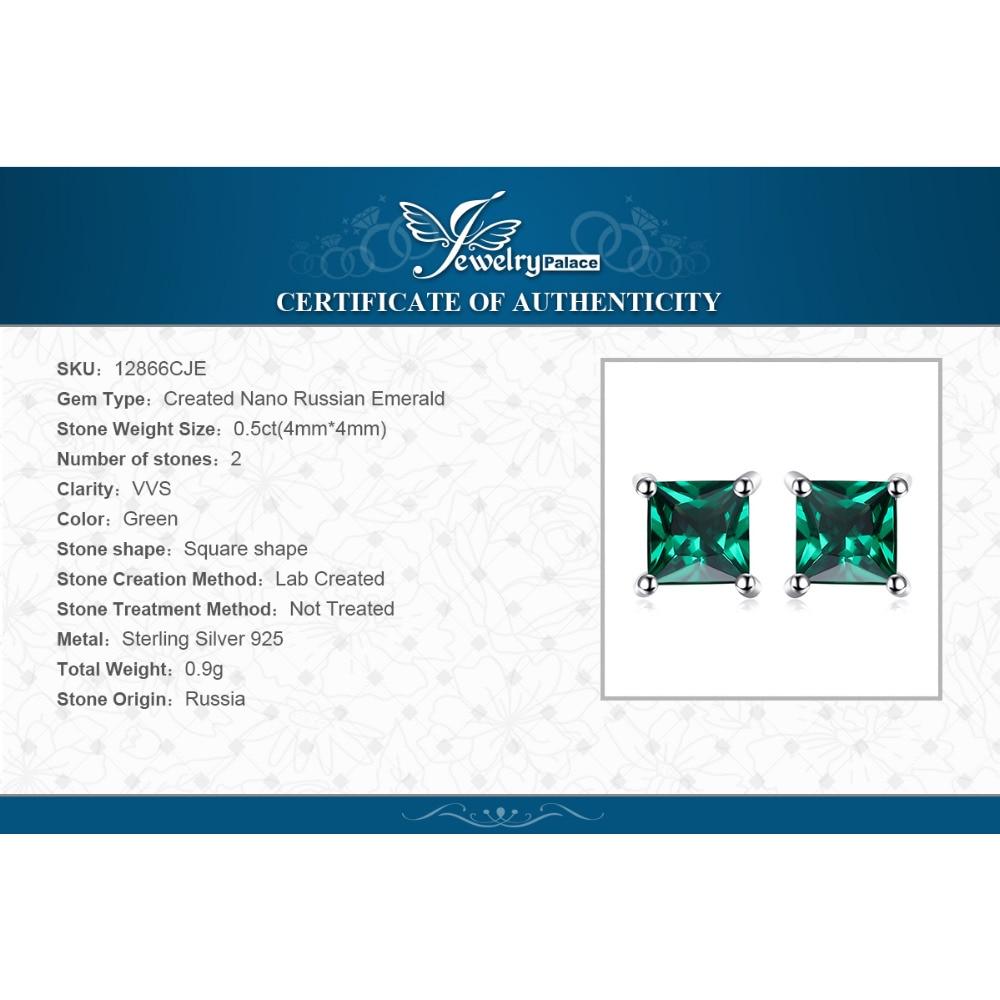 Nakit stvorio Nano Smaragdne naušnice 925 srebrne naušnice za žene - Fine nakit - Foto 6