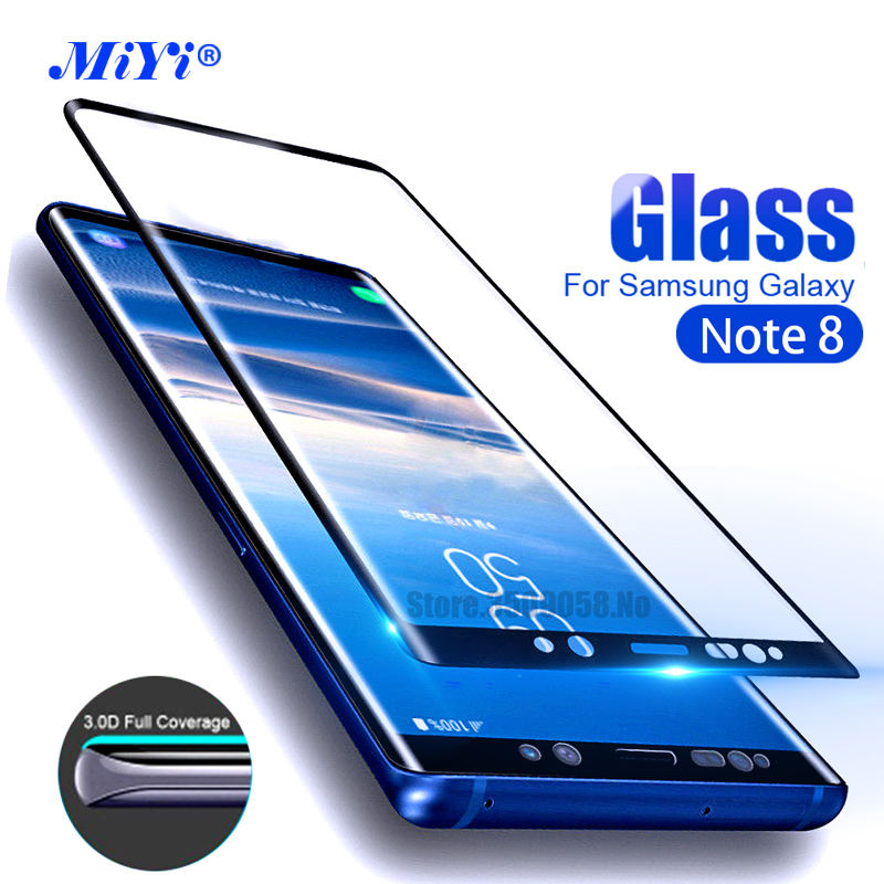 For Samsung Galaxy Note8 Case Screen Protector 3D Curved Tempered Glass For Samsung Galaxy Note8 SM-N950F Full Cover Edge Film