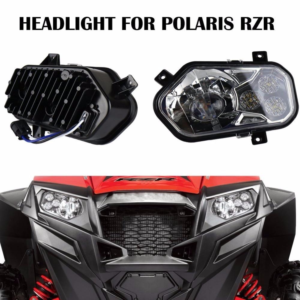 LED Headlights For 2012-2013 Polaris Ranger Model Side X Sides and Sportsman models led headlight for 2011 2014 polaris rzr 900 xp 4 led headlight kit assembly for 2012 2013 polaris ranger model side x side