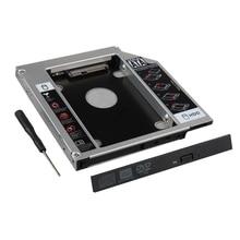 9.5mm SATA 2nd HDD SSD Disco Rígido Recinto Caso Caddy Bandeja para Laptop CD Slot da Unidade Óptica DVD-ROM Bay
