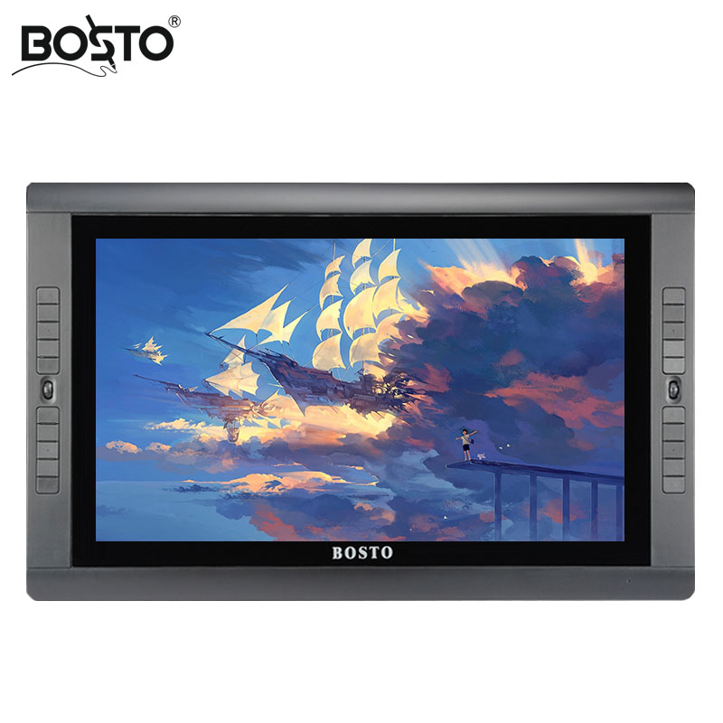 BOSTO Artista KINGTEE 22HDX,Graphics Tablet to Draw with battery free pen Drawing Glove 20pcs express key and Adjustable Stand-in Digital Tablets from Computer & Office