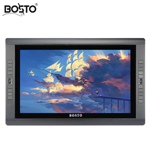 Image 1 - BOSTO KINGTEE の Artista 22HDX 、グラフィックスタブレットバッテリーフリーペンで描画する描画グローブ 20 個エクスプレスキーと調節可能なスタンド