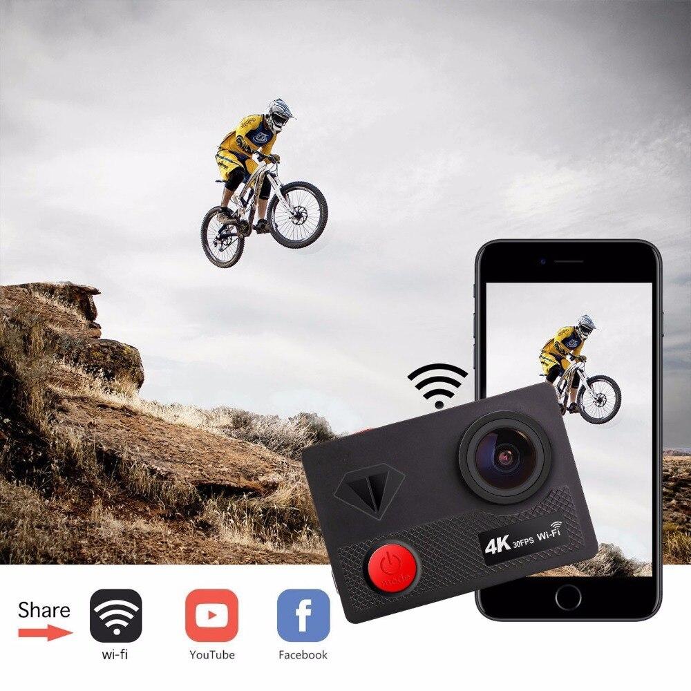 Sport caméra d'action 16MP wifi Ultra HD mini-caméra Sport 4 K/30FPS 1080 p/60fps 720 P/120FPS sous-marine Étanche Vidéo Sport Caméra