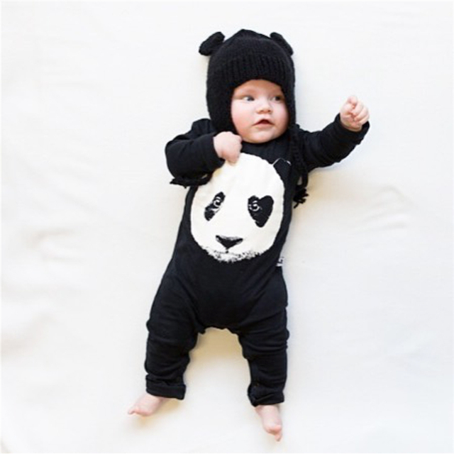 23b9ce563642 2018 New Autumn Newborn Baby Boys Girls Clothes Long Sleeve Panda ...