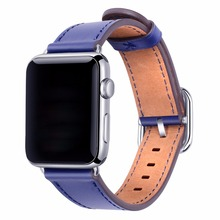 XG423 Apple Watch Band 38mm Women 42mm Genuine Leather Replacement Wrist Strap with Adapters and Buckle for iWatch Accessories