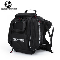 ROCK BIKER Waterproof Black Helmet Bag Motorcycle Touring Luggage Bags For Bmw Honda Yamaha Motocross Fuel Tank Bag