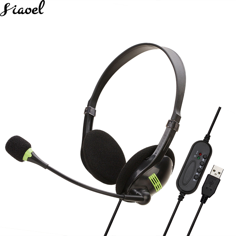 Teaching Office Headset Computer Headphone Network Traffic Customer Service Chat Earphone Gaming Headset For Computer Gamer PC image