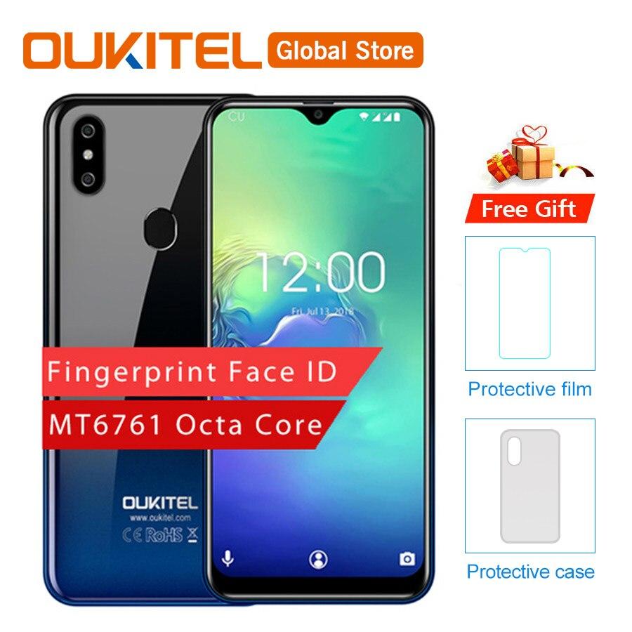 Oukitel C15 Pro Android 9.0 19:9 Mt6761 2 + 16 Gb Fingerprint Gesicht Id 4g Lte Smartphone 2,4g/ 5g Wifi Wasser Tropfen Bildschirm Handy