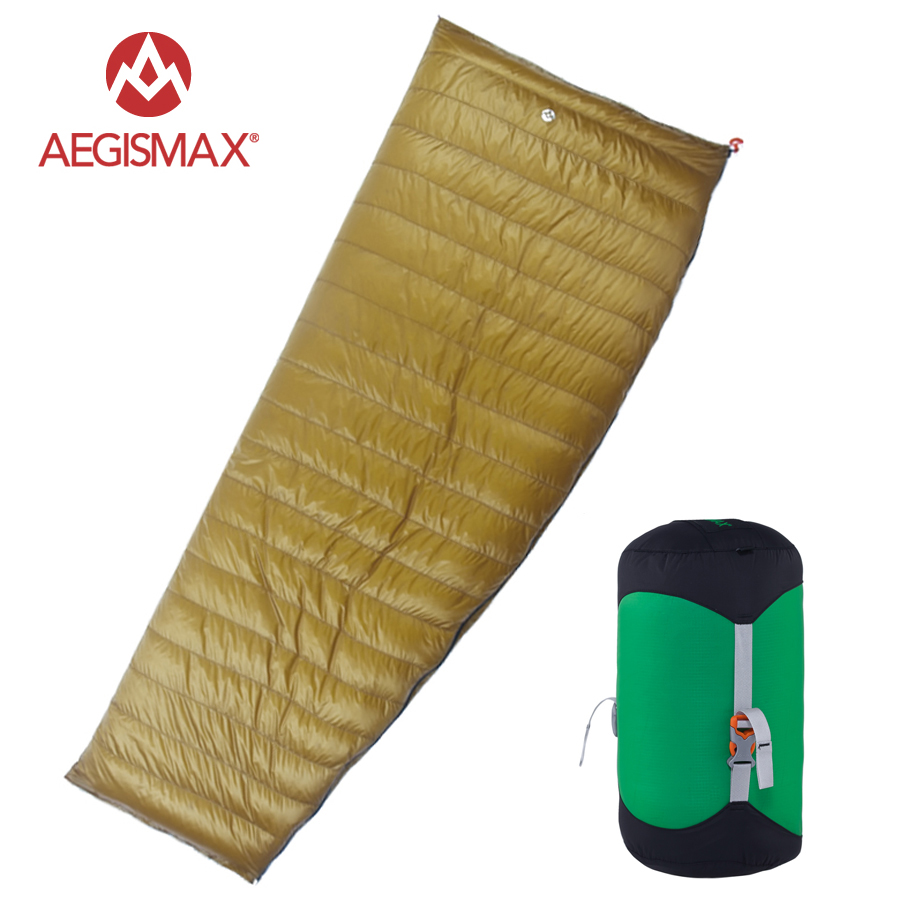 AEGISMAX 95% White Goose Down Sleeping Bag Fan Shape 3 Season Ultralight Camping Hiking Famliy aegismax 95