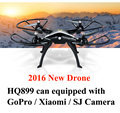Opcional cámara Al Aire Libre Regalos HQ899 2.4G RC Quadcopter Drone 3D Balanceo de Una Tecla de Retorno Sin Cabeza Modelo FPV Cámara 5.0MP