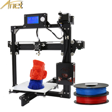 Легко собрать Анет RepRap Prusa i3 3D принтер комплект DIY A2 черный металлический с Бесплатная 0.5 кг нити 220*220*220 мм/220*220*270 мм