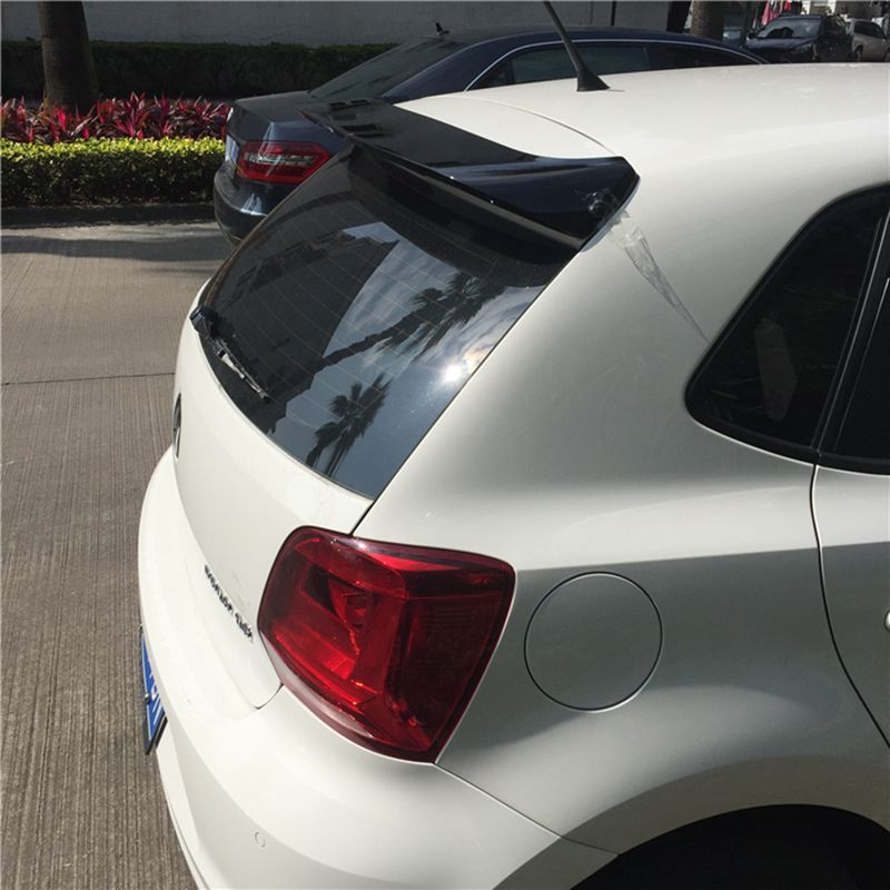 SHCHCG Car Styling ABS Plastic Unpainted Primer Color Rear Trunk Wing Roof Spoiler For Volkswagen VW Polo 2011-2016 Auto Part fit for volkswagen vw tiguan rear trunk scuff plate stainless steel 2010 2011 2012 2013 tiguan car styling auto accessories