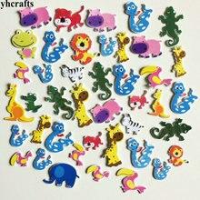 1 упаковка/Партия. Наклейки из пеноматериала с изображением змеи ящерицы льва кенгуру леса животных для детской комнаты, украшения для раннего обучения, игрушки для самостоятельного обучения