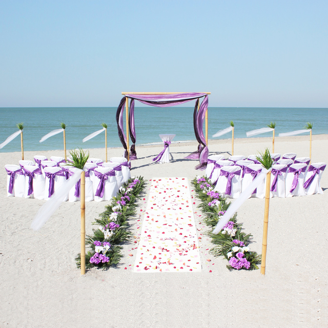 Purple white beach theme wedding decoration backdrops organza chair purple white beach theme wedding decoration backdrops organza chair sash fabric satin chair tie paper lantern junglespirit Image collections