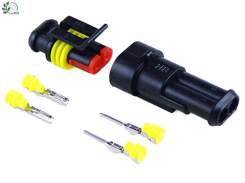 5 sets Kit 2 Pin Way Waterdichte Elektrische Draad Connector Plug auto deel