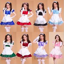Lolita Princess Maid Dresses Fancy Apron Dress Outfits Meidofuku Uniform Anime Cosplay Costume S-XXL