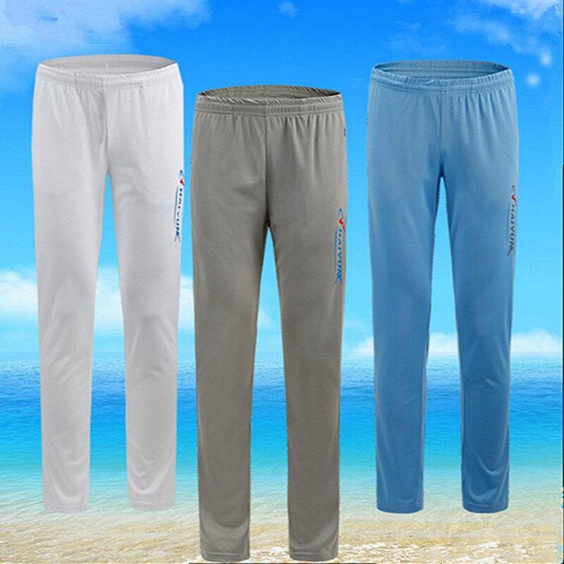 Men/Women Bamboo Fiber /Ice fabrics plus size Outdoor sport pants antI uv clothing quick drying breathable fishing pants