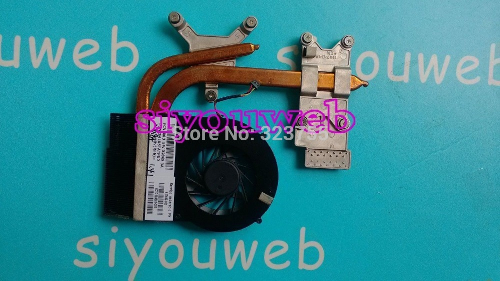 FREE SHIPPING!!NEW&Original Cooling Fan & Heatsink 604787-001 FOR HP Pavilion DV6 DV7 DV6-3000 DV7-4000 LAPTOP цена и фото