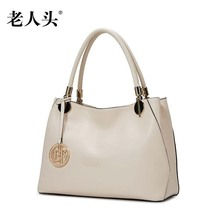 LAORENTOU brand new genuine leather bag brand fashion Simple Superior cowhide leather Casual women Tote shoulder bag