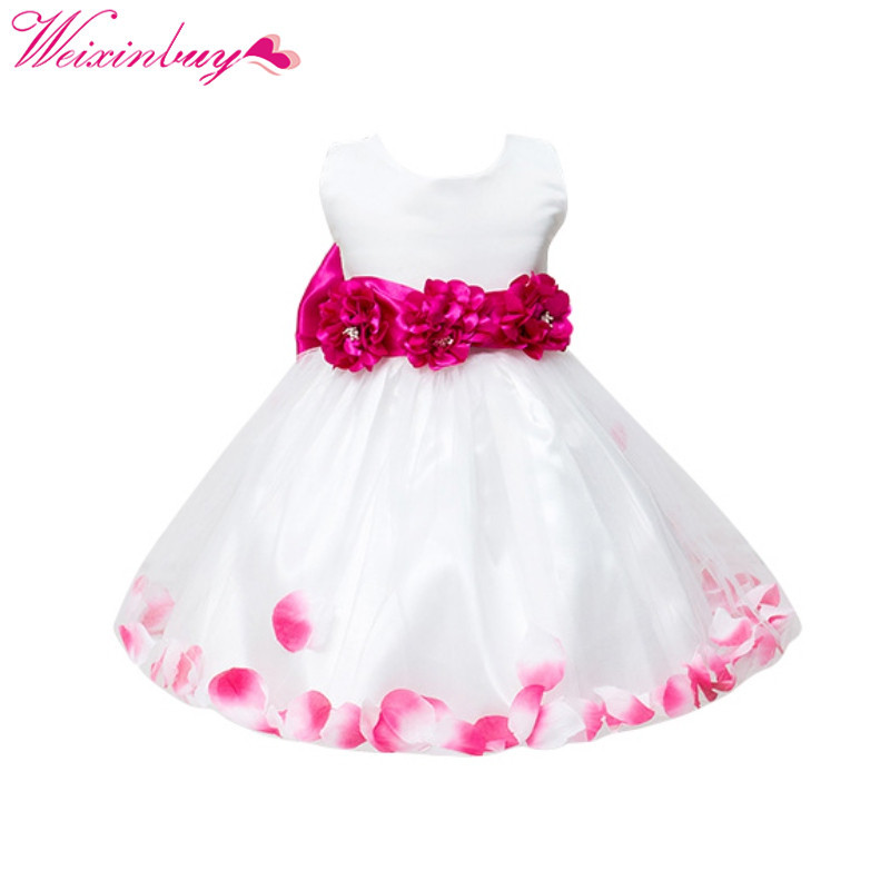 Dress For Gils Baby Girl Clothes Flower Pageant Wedding Toddler Baby Princess Dresses Party Baby Girl Dress Kids Clothes