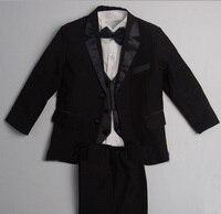 Free shipping/Custom made cheap NEW BLACK TUXEDO BOY'S FORMAL SUIT/wedding Boys' Attire/kids tuxedo