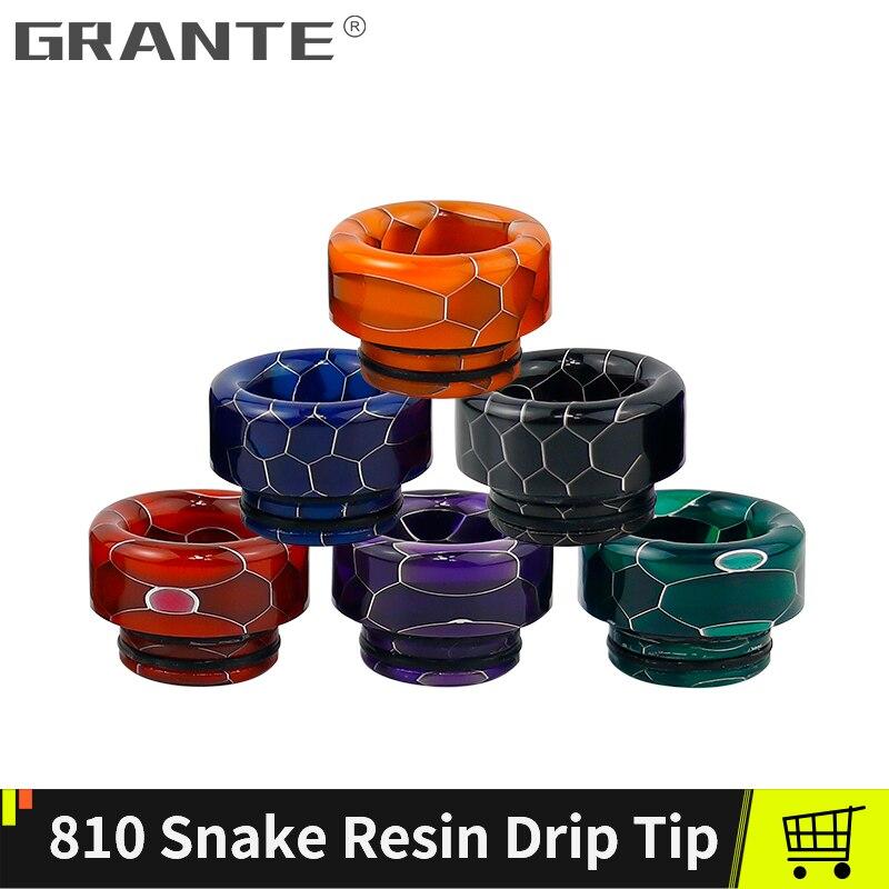 Grante 810 Drip Tip Snake Resin Mouthpiece Drip Tip 810 For TFV12 Prince TFV8 Big Baby Tank For RDA RBA Atomizer Vape Tank