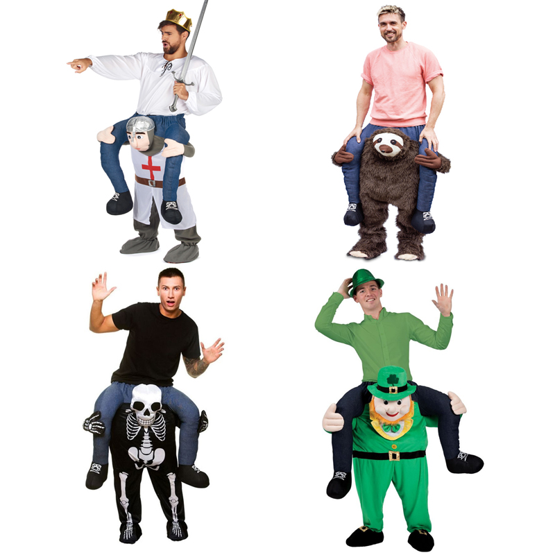 Novelty Ride on Pants For Adult Knight Cosplay Clothes Oktoberfest Halloween Make-up Party Men Women Suits Riding Horse Fun Toys adult child novelty ride on me mascot costumes carry back fun pants christmas halloween party cosplay clothes horse riding toys