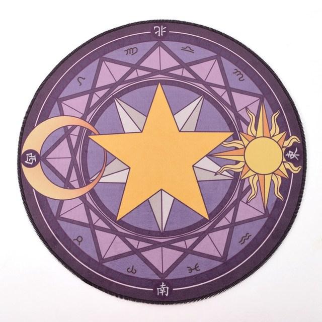 Аниме коврик Сакура собирательница карт круглый 5