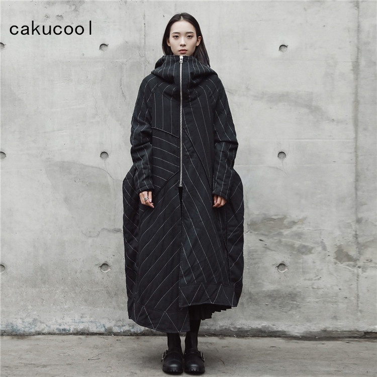 24efde55dc91 Cakucool New Winter Jacket Women Parka Gothic Wizard Hooded Novelty Design  X Long Parkas Oversize Cotton
