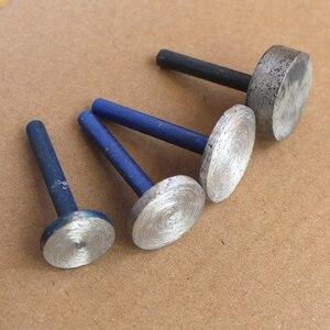 Image 1 - Nuovo 10 pz/lotto Cilindrica Testa di Diamante di Rettifica Sinterizzazione Montato Punti T Ruota per la Pietra 46 #6 millimetri Shank Intagliare rettifica