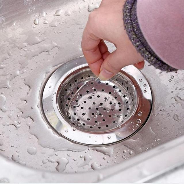 11cm Stainless Steel Sink Filter Kitchen Bathtub Hair Catcher Stopper Shower  Drain Metal Filter Trap Bathroom