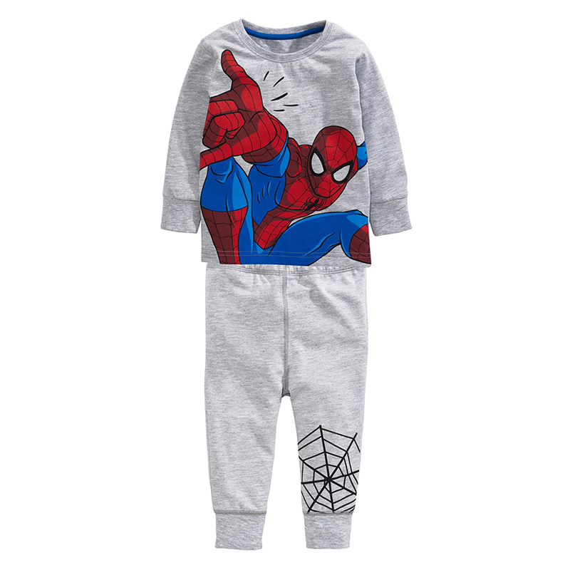 Little Maven Spiderman Kids Sleepwear Cotton Baby Boy Clothing Set for Baby 2T-7T adidas x pharrell little kids superstar supercolor