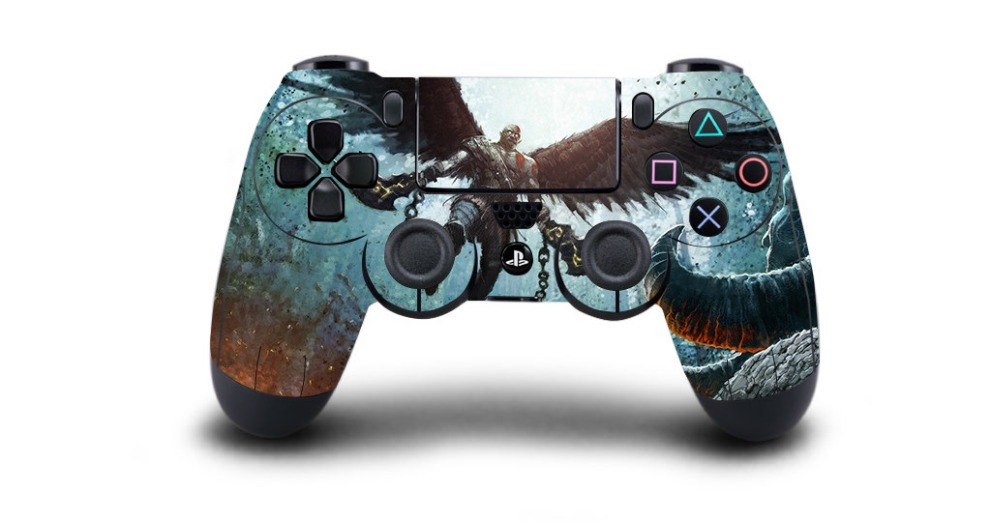 1pc God of War PS4 Skin Sticker Decal For Sony PS4 Playstation 4 for Dualshouck 4 Game PS4 Controller Skin Stickers image
