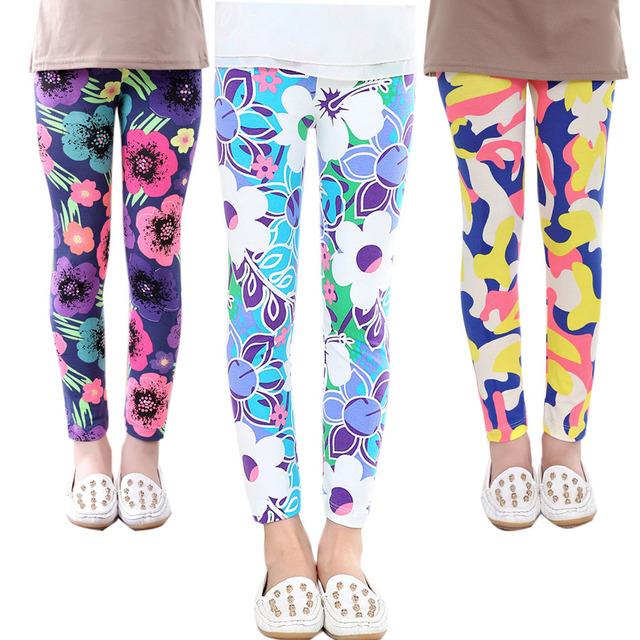 Baby Kids Childrens printing Flower Toddler Classic Leggings girls pants Girls legging 2-14Ybaby girl leggings