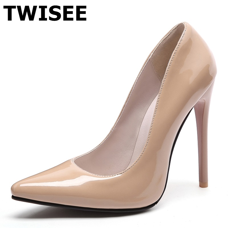 Brand Shoes Woman High Heels Pumps Red High Heels 12CM Black Nude Shoes Heels Women Shoes High Heels Wedding Shoes Pumps women pumps colorful rhinestone wedding shoes thin heels high heels red shoes woman married bridal shoes single women s shoes