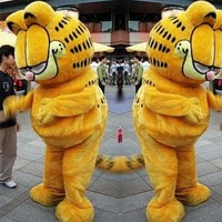 Factory direct sale Garfield Cat Mascot Costume Fancy Dress Adult Size Animal Theme Costumes free shipping