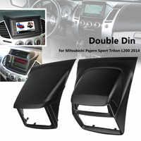 2 Din Radio Audio Fascia Blenden Panel Platte Rahmen DVD CD Dash Dashboard Abdeckung Für Mitsubishi Pajero Sport für Triton l200 2014